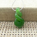 New Zealand Maori Style Natural Nephrite Jade Fish Hook Pendant Jade Fish Hook Hei Pendant Necklace Maori Full Green Jewelry