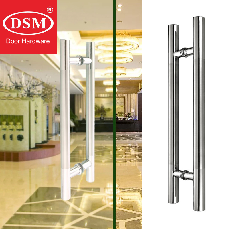 giriş Lehçe kapılar - SUS304 Stainless Steel Polishing Middle Brushed Entrance Door Pull Handle PA-102 For Glass/Wooden/Frame/Metal all kinds of Doors