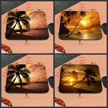 Evening Seaside Scenery New Arrival High Quality Cool Luxury Print Custom Rectangle Gaming Non-Slip Rubber Mouse Pad As Gift