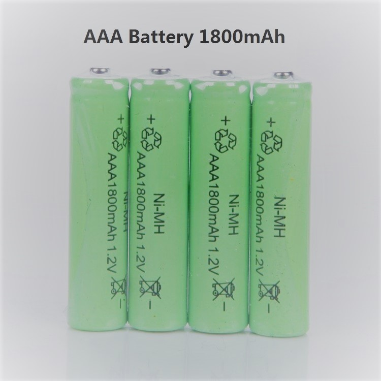 8PCS Ni-MH 1.2V AAA Rechargeable 1800mAh 3A Neutral Battery Rechargeable battery