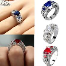 8 20mm Women Rings Fashion Heart Silver 10 Party Color Birthstone Promise and 19mm 18mm Crystal Simulated Wedding etc 9 Casual(China)