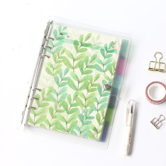 Planner Time 6pcs/set A5/A6 6 Holes Colored Notebook's Index Page Matte Spiral Book Category Page Office Planner Accessories