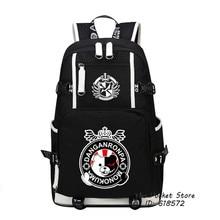 Hot Game Danganronpa Monokuma Women Backpack Cartoon Bagpack Anime School Bags Canvas Travel Bags Laptop Backpack Large Bookbag