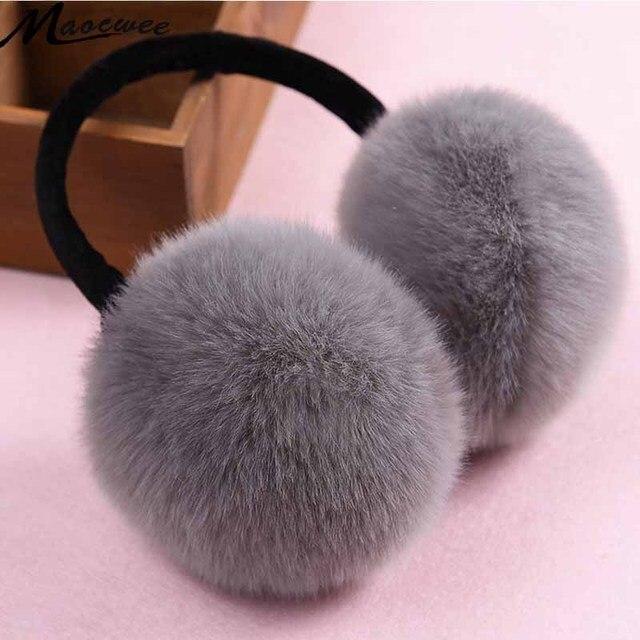 2017 зимние наушники имитация кролика Для женщин зимние меховые наушники  уха грелки большие плюшевые для мальчиков ee60d61c2b6c9