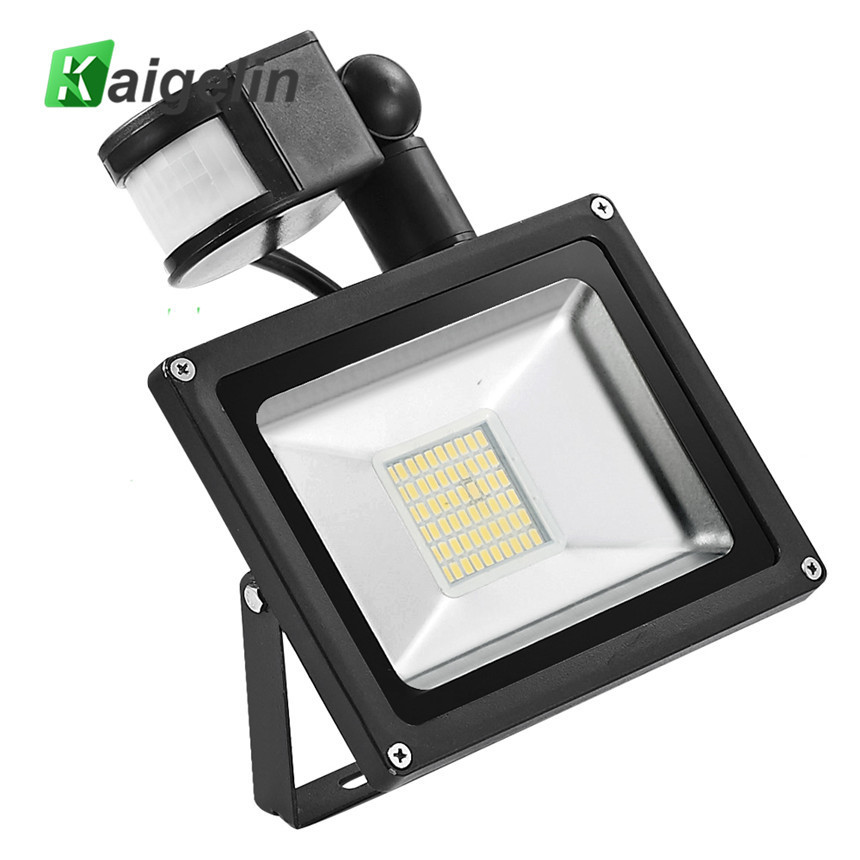 Kaigelin LED Sensor Floodlight 30W 220V 60 LED'er SMD 5730 Infrarød Sensor Flood Lamp Udendørs Belysning LED Induktion Floodlights