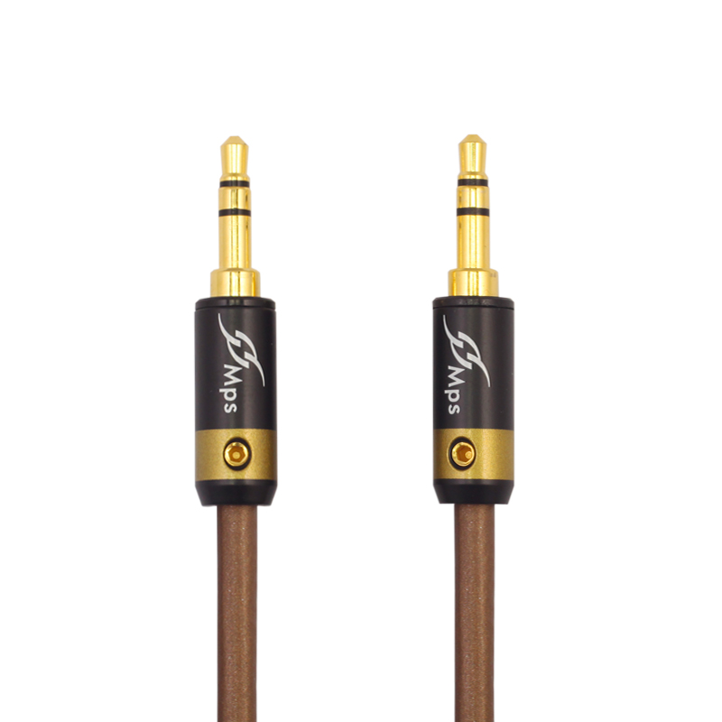 MPS X-5 Eagle HiFi 99.9997% OFC+ Silver Plated 24K Gold Plated Plug 3.5mm AUX male to male audio car Headphone Speaker cable ultra thin 24k gold plated hdmi 1 4 male to male connection cable 1 5m length
