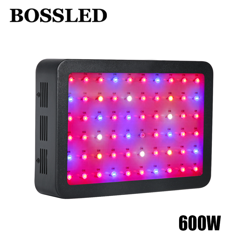 Bossled 600 Вт двойной чип растет свет полный ассортимент для комнатных растений теплицы система гидропоники Светодиодные лампы роста