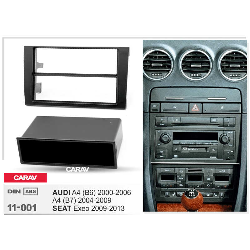 Radio Fascia per SEAT Exeo AUDI A4 (B6) A4 (B7) doppio Din Radio DVD Stereo Pannello CD Dash Mount CARAV 11-001