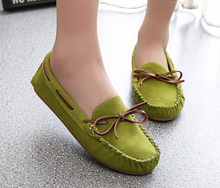 Spring Summer Flat Loafers women Moccasins Shoes Suede Leather women Flat Shoes Casual Loafers Slip On Driving shoes Size 35-40