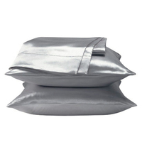 Standard Silk Pillowcases Silver Gray Single Bedding Pillowcase 48 74cm Envelope Pillow Cover