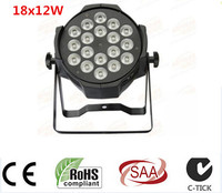 Aluminum Alloy LED Par 18x12W RGBW 4in1 Quad LED Par Can Par64 Led Spotlight Dj Projector