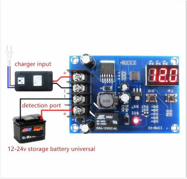 Charge Control Module 12 24V Storage Lithium Battery Protection Board XH M603