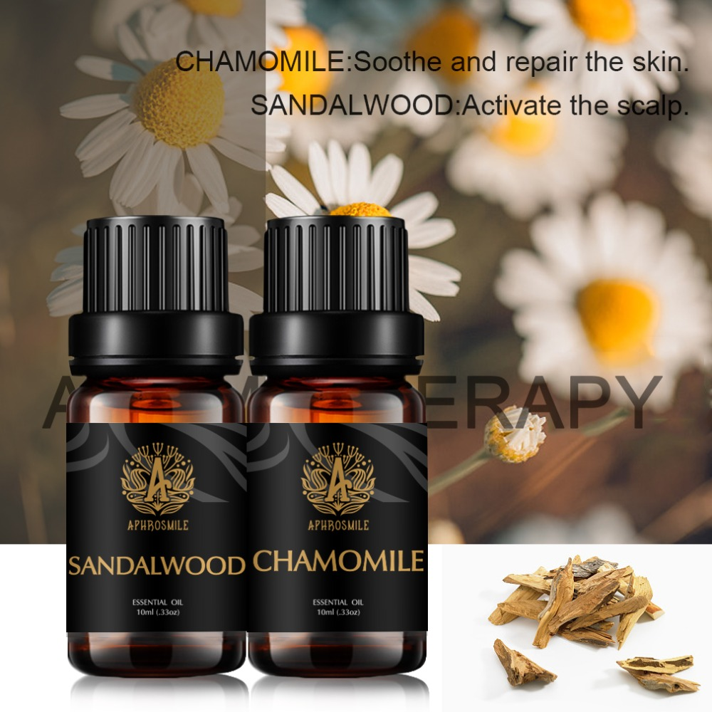 100 Pure Sandalwood Chamomile Essential Oil Set Natural Plant Aromatherapy Oil Create a Comfortable Space For Nice Dreams