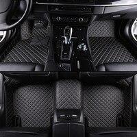 custom car floor mats for hyundai santa fe getz tucson solaris creta elantra kona i40 leather all models car mats accessories
