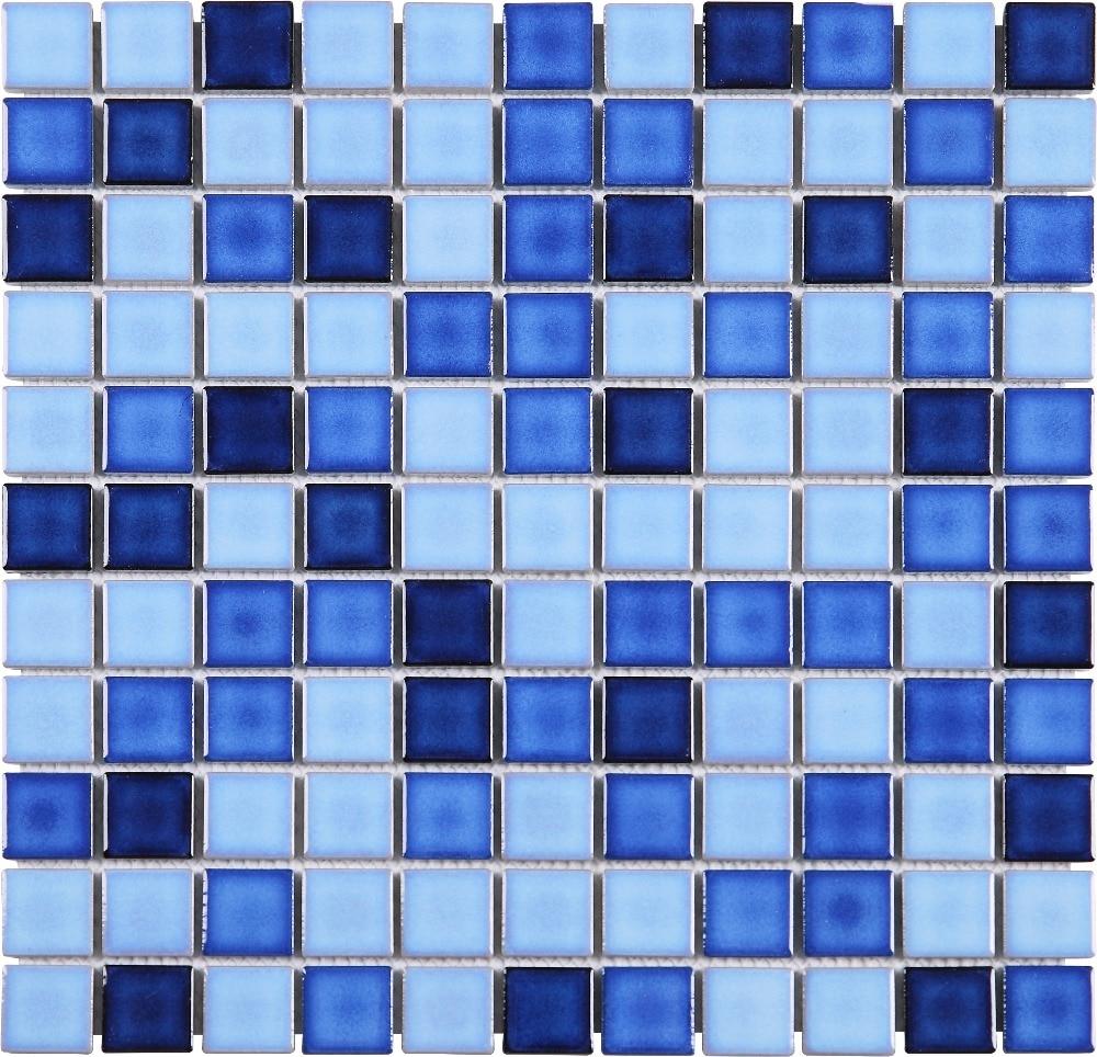 1 x1 swimming pool tiles blue mosaic tiles tcj2530