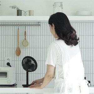 Image 2 - Настольный вентилятор SOLOVE с вибрационной головкой, 60 градусов, 4000 мАч, USB, перезаряжаемый, 3 режима, скорость ветра, охлаждение, Осциллирующий вентилятор, черный/розовый