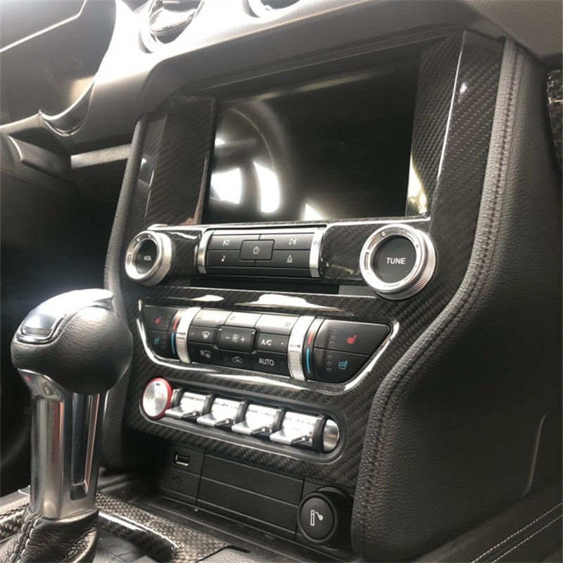 Image 5 - Carbon Fiber Interior Dashboard Trim Mouldings Accessories For Ford Mustang 2015+  Interior Parts Add On-in Automotive Interior Stickers from Automobiles & Motorcycles