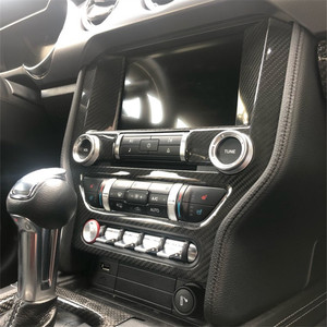 Image 5 - Carbon Fiber Interior Dashboard Trim Mouldings Accessories For Ford Mustang 2015+  Interior Parts Add On