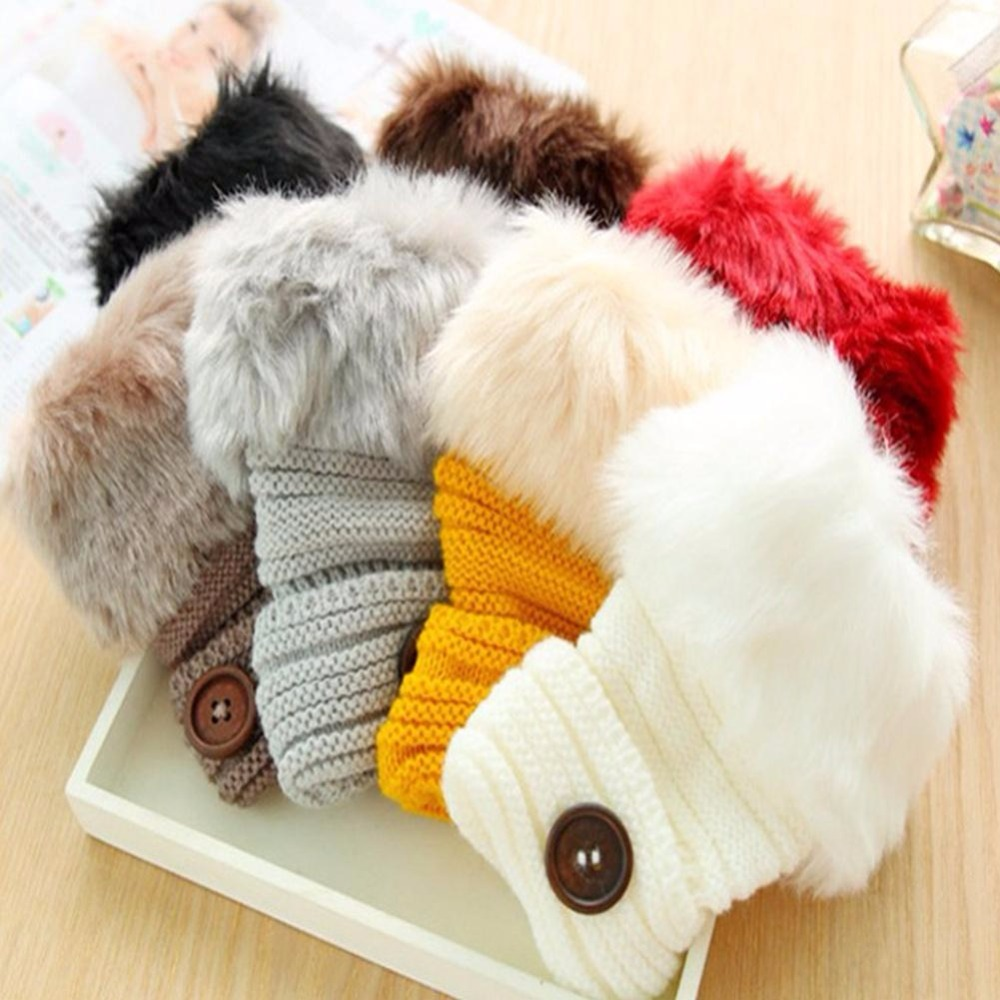 1Pairs Winter Women Faux Fur Fingerless Gloves Female Wamer Rabbit Fur Half Cover Wrist Gloves Mittens