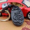 1 unid Dragón de madera Tallada de Madera Llavero, Coche/Bolsa/Monedero Llavero, Llavero Amuleto Colgante De Madera accesorios llaveros porte clef