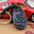 1pc Dragon Carved woodwork Wood Key Chain,Car/Bag/Purse Keychain,Keyring Amulet Pendant Wooden Accessory llaveros porte clef