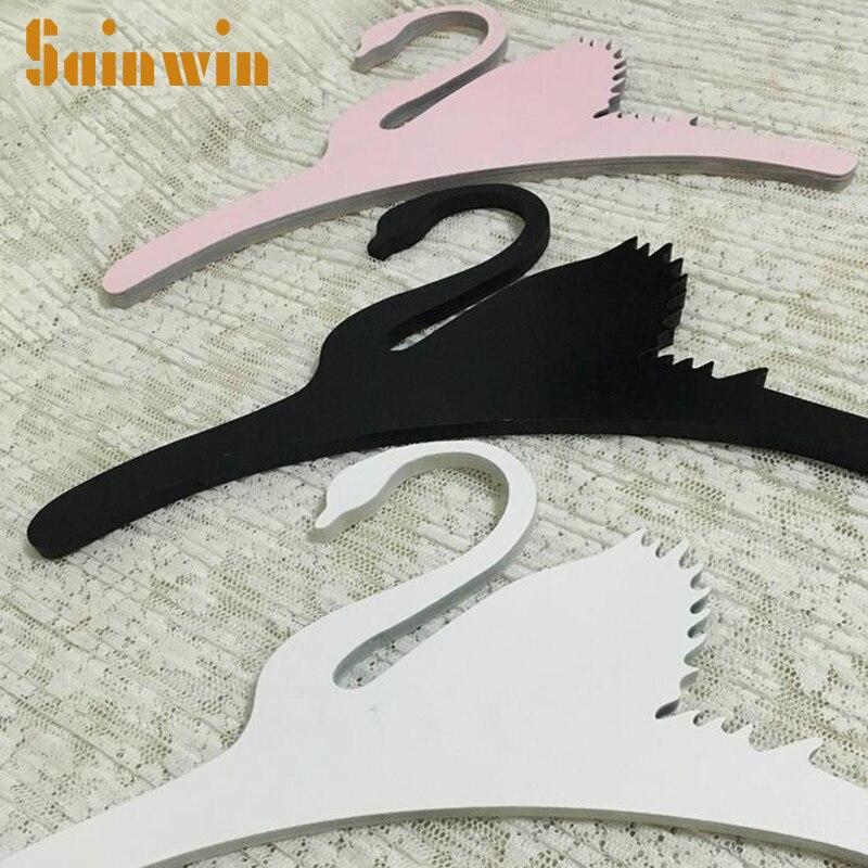 Sainwin 1db 32cm Baby Wood Swan akasztók a - Szervezés és tárolás