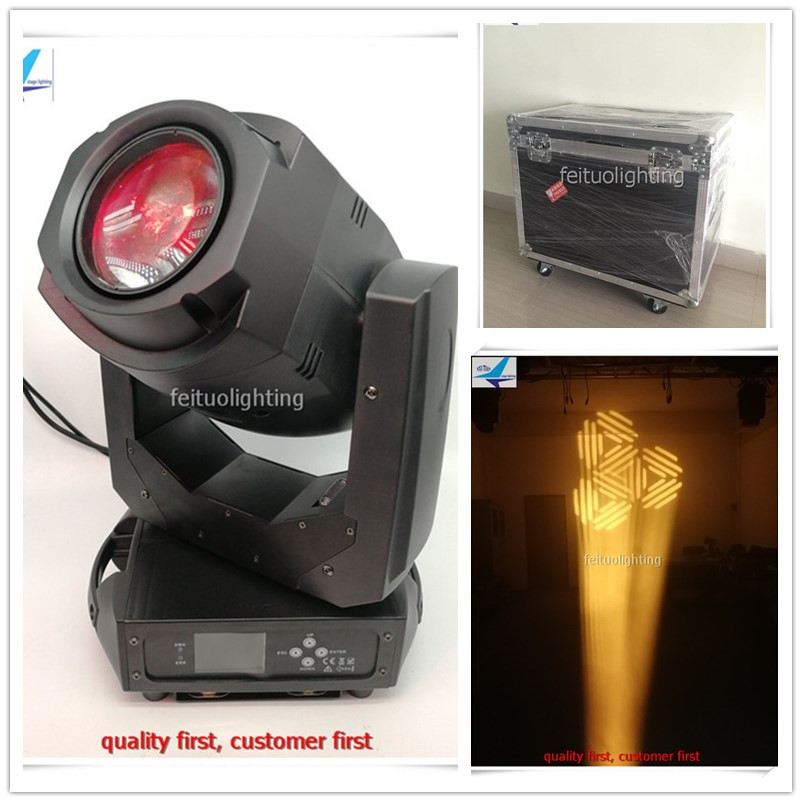 4pcs/lot flycase 200w Stage Moving Head Lighting Zoom Light Spot Lumiere Gobos 3/6 Prism 200w Movinghead Light for DJ Disco Show