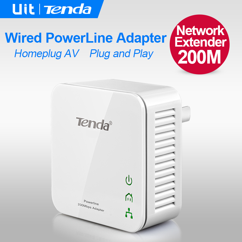 1PCS Tenda P202 200Mbps PowerLine Ethernet Adapter PLC Adapter Wireless WiFi extender Powerline Network IPTV Homeplug