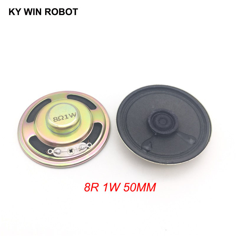 2pcs/lot New Ultra-thin Speaker 8 Ohms 1 Watt 1W 8R Speaker Diameter 50MM 5CM Thickness 13MM