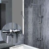 3 функции смеситель для душа Душевые системы Ванная комната Водопад насадки для душа холодная и горячая вода Chrome смеситель для душа