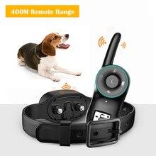 Controle remoto coleira de treinamento do cão anti latido dispositivo treinamento recarregável coleira do cão eletrônico clicker pet cão choque colar