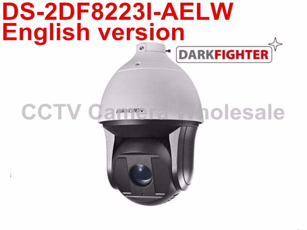 English version DS-2DF8223I-AELW 2MP Ultra-low Light Smart PTZ Camera 23X optical zoom with wiper and POE 2017 new ds 2df8836iv aelw english version 4k smart ir ptz camera poe camera with wiper