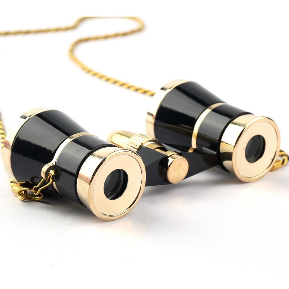 EYOYO Black Binoculars Opera Theatre 3X25 Glasses Telescope Optics With Chain