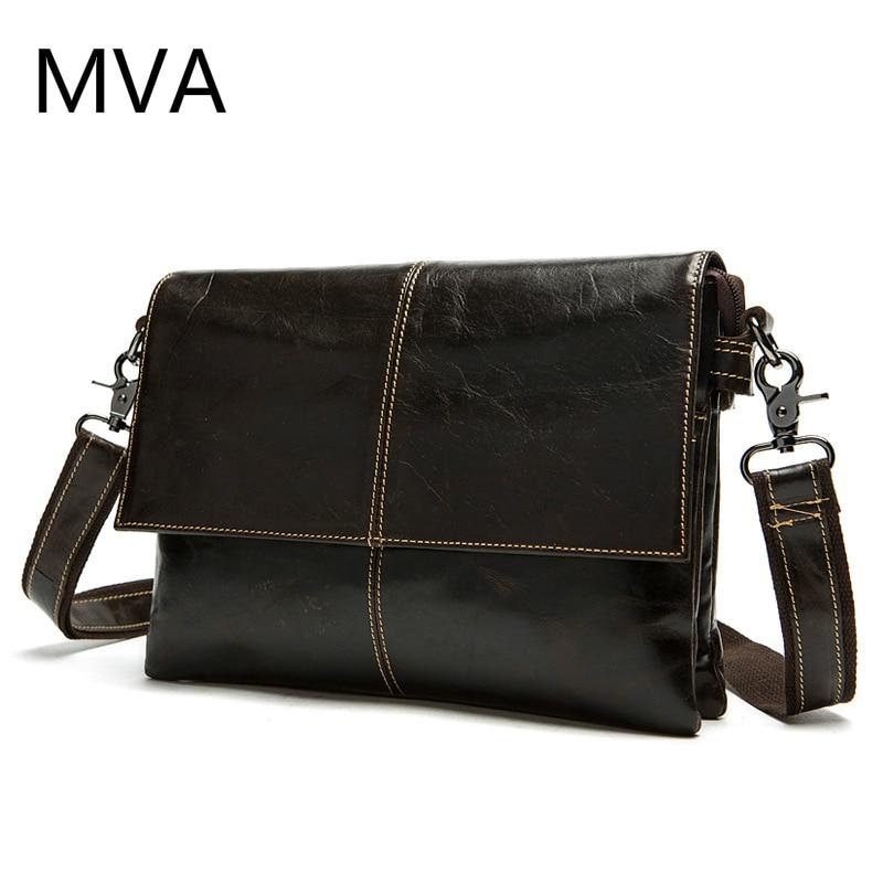 MVA Genuine Leather Men Bag Men Messenger Bags Shoulder Crossbody Bags for Man Handbag Casual Men's Leather Bag Hot Sale цены онлайн