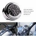"""A prueba de agua 7/8 """"1"""" chrome manillar de la motocicleta de montaje de cuarzo reloj reloj para harley davidson honda yamaha suzuki kawasaki 1 pcs"""