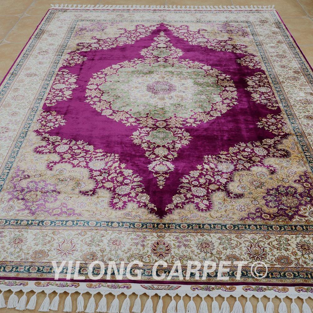 Yilong 6.56'x9.84 'на едро турски килим лилав - Домашен текстил - Снимка 2