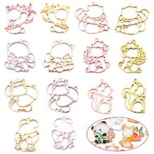 14 Pcs/set DIY Jewelry Accessories Animal Model Epoxy Mold Metal Frame Pendant Border