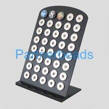 2016 de Alta calidad Negro pantalla Acylic para snaps botones con botones fit 18/20mm snaps perfect XX0085