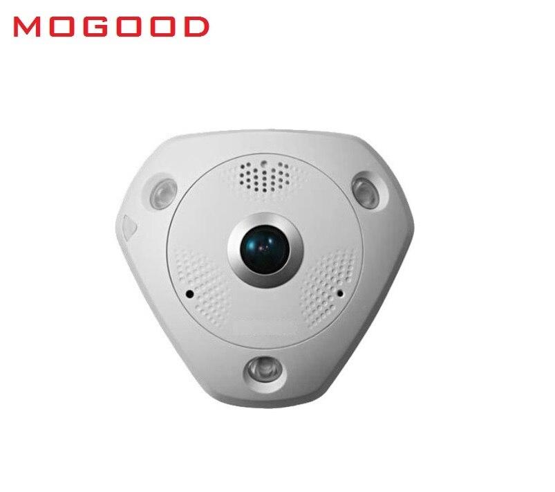 HIKVISION  DS-2CD63C2F-IVS English Version 12MP Fisheye View IP Camera Support Outdoor EZVIZ Microphone/Speaker SD Card PoE IR