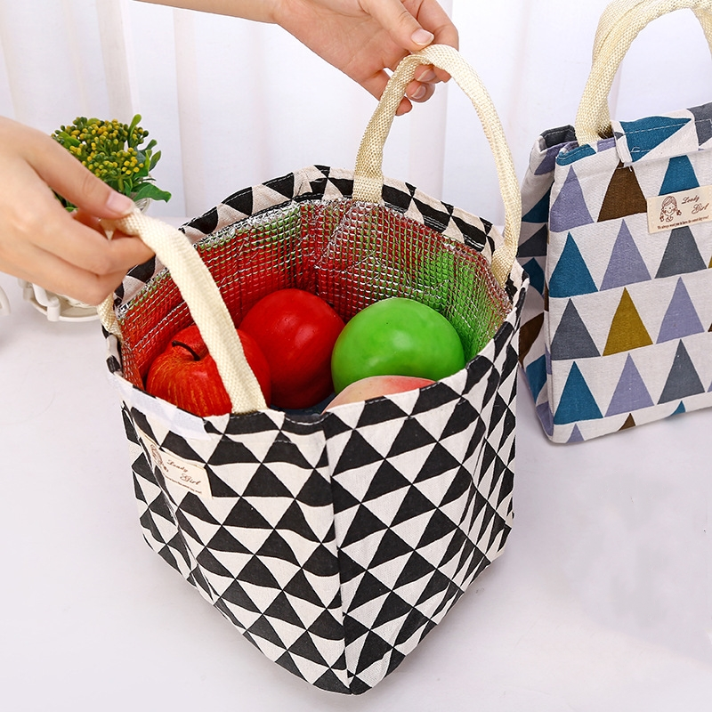High Quality Insulated Lunch Bags Thermal Portable Tote Cooler Lunch Bag For Women Kids Food Picnic Organizer bag Storage Box