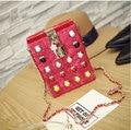 Chain Retro Womenn Messenger Bags Small Cross Body Luxury Women Shoulder Bags Female Of Famous Brand Trunk Bag Rivet Handbags
