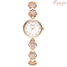 Kimio Brand Fashion Ladies Flower Bracelet Watch Luxury Women Crystal Quartz Watch Relogio Feminino Relojes Mujer