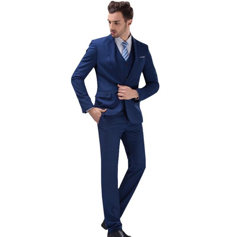 Personnalisé Costumes GiletDans D'honneur Marié Blazer Garçons Fit Smoking Mode Affaires Slim De Pantalon Set vestes 2016 Hommes Mariage Robe EIDH92