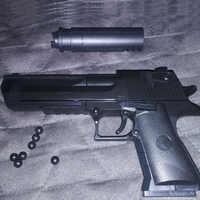 2019 Pode Disparar Desert Eagle Pistol Gun Rifle DIY Blocos de Construção de Montagem 3D Modelo Em Miniatura de Plástico de Brinquedo de Presente para o Menino crianças