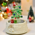 Christmas tree crystal drawing glass music box for Christmas new year wedding and romantic birthday male free shipping