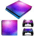 Colorful Grid Painted Vinyl Game Protective Skin Sticker For Playstation 4 Slim Sticker For PS4 Slim Console +2 Controller