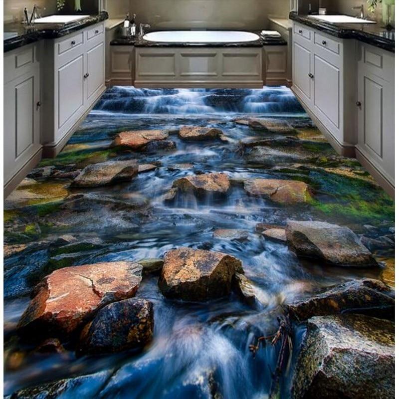 beibehang aduana del agua suelo de piedra para pegar la cocina sala de estar d ultra