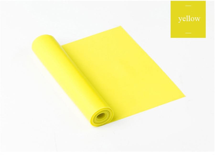 Fitness Elastic Band Indoor Pilates Rubber Resistance Bands Yoga Ribbon (10)