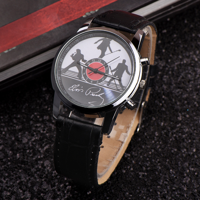 2019 Fashion Men Children Boys Girls Fashion Cool Cartoon Elvis Presley Quartz Wrist Watches Students Kids Leather Watch