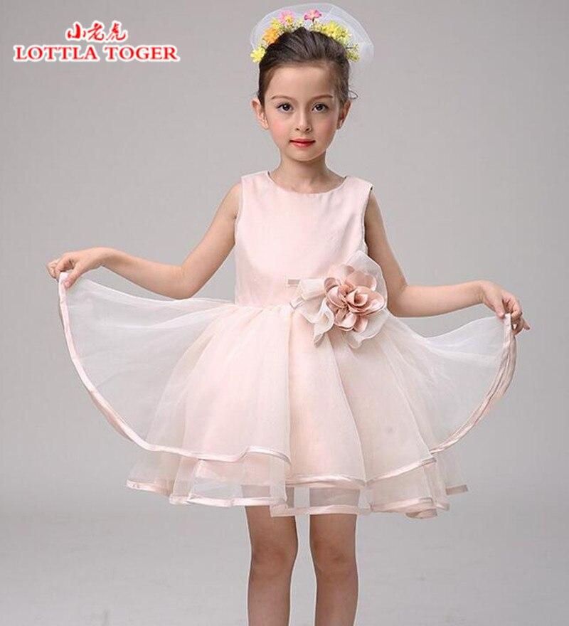 2016Fashion baby girl birthday party dress baptism christmas christmas easter gown child princess lace flower dress 3 - 12 years marfoli girl princess dress birthday